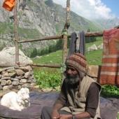 Postojanka sredi ničesar, kjer smo pri prijaznem gostitelju in njegovi štirinožni prijateljici popili čaj brez katerega v Indiji ne gre