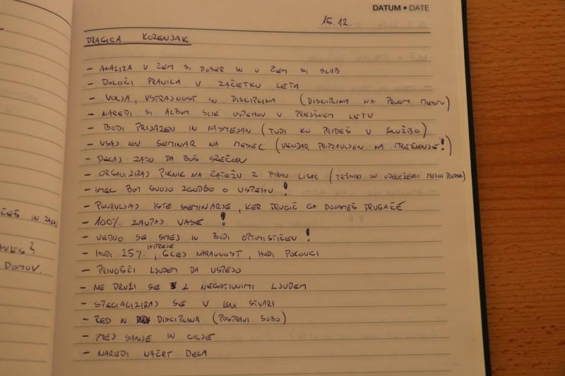 Dragica Korenjak zapiski iz seminarja