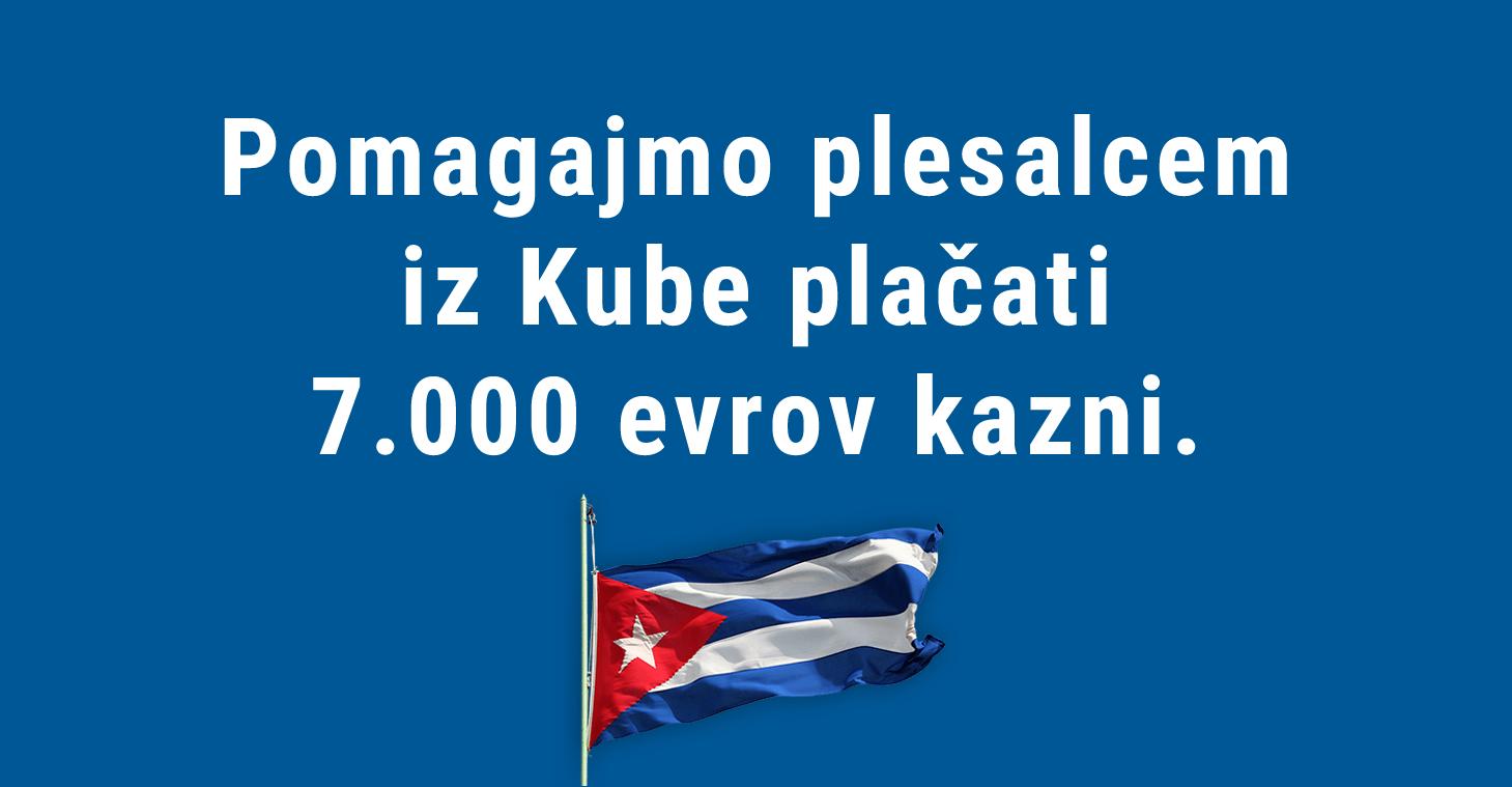 Pomagajmo plesalcem iz Kube plačati 7.000 evrov kazni.