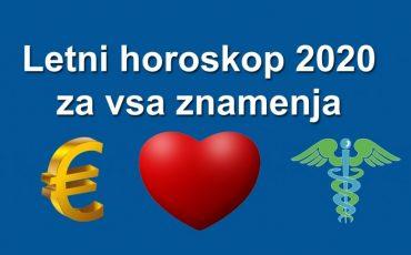 Letni horoskop 2020